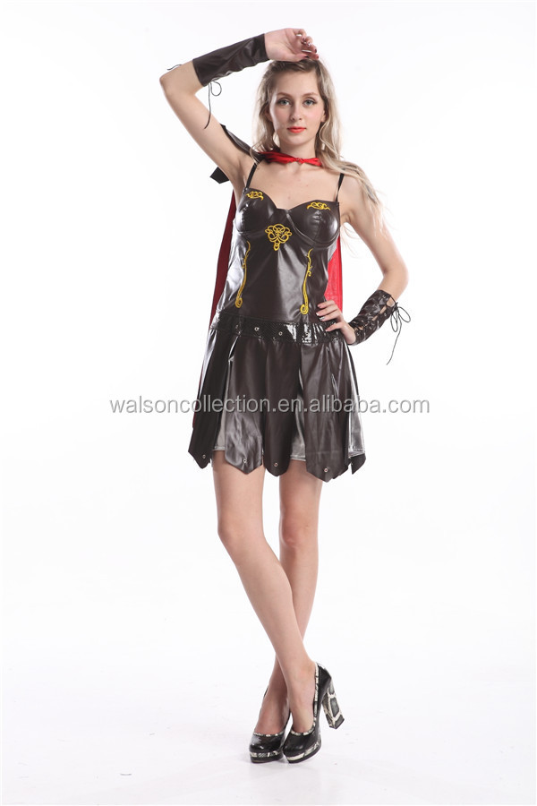 Sexy women's GLADIATOR WARRIOR Princess Roman Spartan Fancy Dress Costume