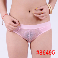 86495 Latest Design Simple Latex Free Underwear lace transparent panties for women colors