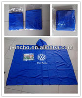 bicycle reusable square PVC rain poncho with logo