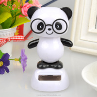 cute sunlight solar toys Dancing Panda With Glasses Solar Powered Toy Office Desk Home Decor Birthday ~