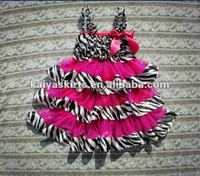 Hot Sale! Wholesale Kids Dress Designs,Zebra with Hot Pink Dress for Baby