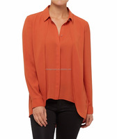 MIKA1014 New fashion women red top blouse