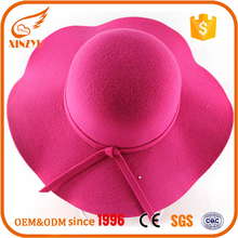 Handmade blank felt hats new fashion ladies wide brim felt fedora hats