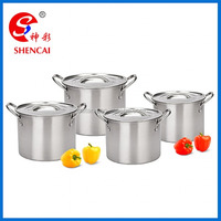 8 Piece Stainless Steel Big Soup Stock Pot Set