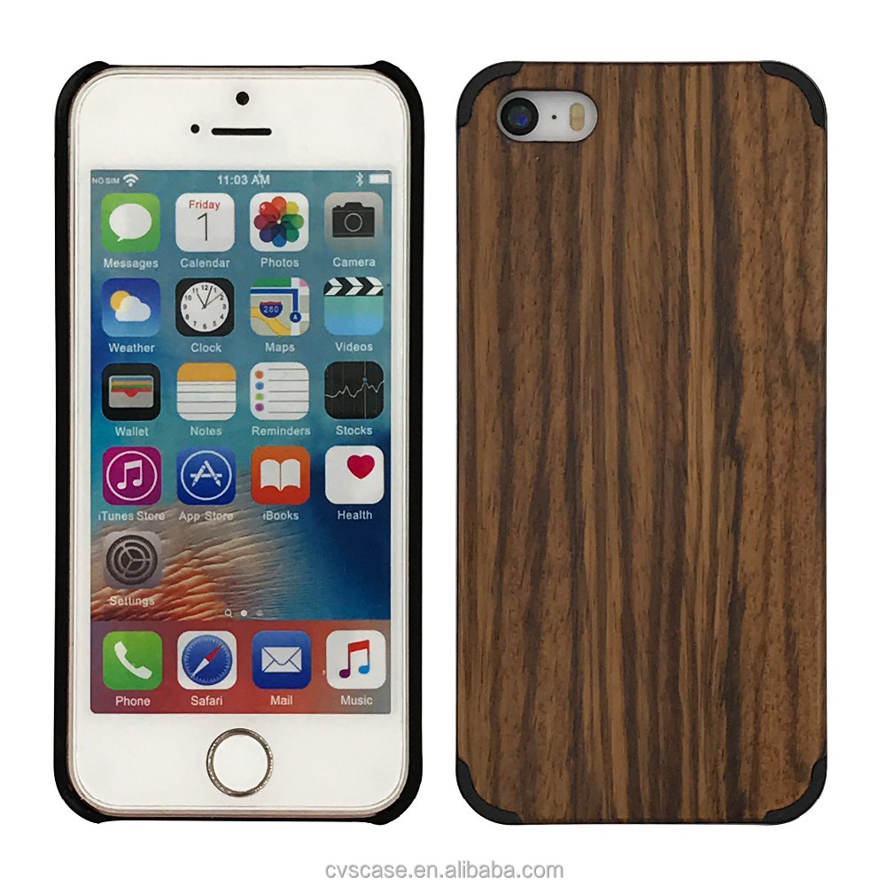 For iPhone 5 Wood Back Case,China Factory Luxury for Apple iPhone 5s Real Genuine Wood Bamboo Back Shell