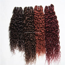 Best Selling Product World Free Samples Cheap Virgin Red Curly Hair Extensions New York, Black Girl Hair Extensions