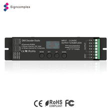 5 warranty years 12~24V dimming bar dmx 512 rgb led controller