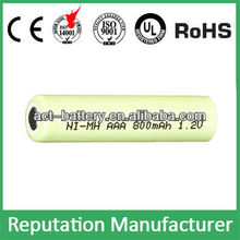 rechargeable 1.2v nimh battery aaa 800mAh /aaa nimh battery rechargeable