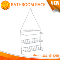 Stainless steel bathroom shampoo shelf with single towel racks