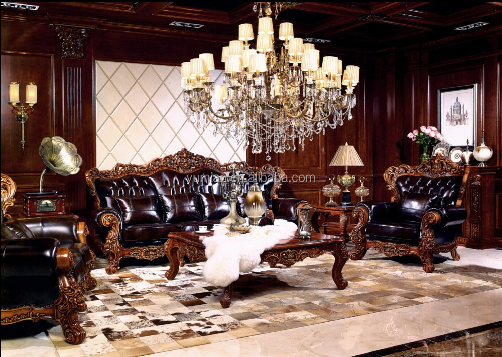 2016 Yumian Manufacturer, Factory Elegant&Noble style antique living room furniture sofa sofas set Tea table