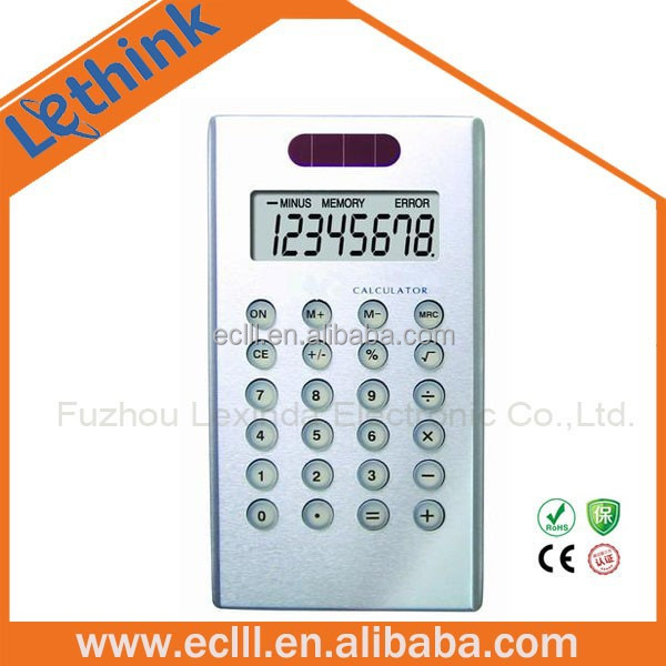 Solar power Aluminum metal digital calculator