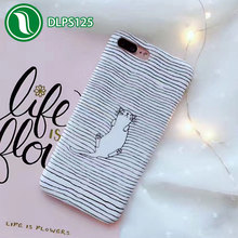 Cartoon pussy cat mobile phone cover napping cat imd back cover 3d sublimation silicone case for iPhone 7