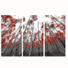 Red Leaf Trees Landscpe Canvas Wall Art Painting/Modern Autunm Scenery Poster For Home Decor/Giclee Artwork On Canvas