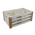 FSC&BSCI handmade reclaimed rustic cheap wash white wooden orange crate