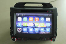 Double Din 8 Inch Touch Screen Andriod Car DVD Player with Reversing Camera GPS for Sportage