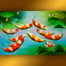 Beautiful fished thai painting in acrylic for wholesale