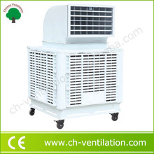 Low power consumption heavy duty two stage evaporative air cooler