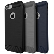Luxury Soft TPU Ultra Thin Slim Armor Carbon For iphone 6 Case Cover For Apple iphone 6s 6 plus 5S 5 SE Case Logo Hole