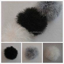 Wholesale Bag or Key Accessory Real Turkey Feather Ball for girls