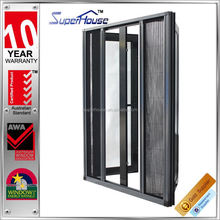 Australia AS2047 standard commercial double glass double casement sash outward opening window retractable flyscreen