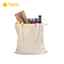 handmade customized large cotton canvas tote bag with long handle