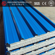 steel insualted EPS sandwich panel roof panel price for prefabricated house use
