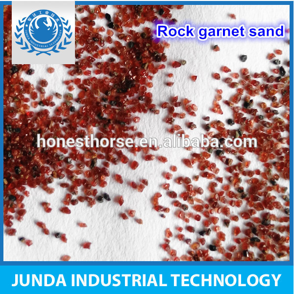 chemical stability free flow 90% Minimum garnet abrasive 30/60 for surface preparation of oil for multi-layer coatings