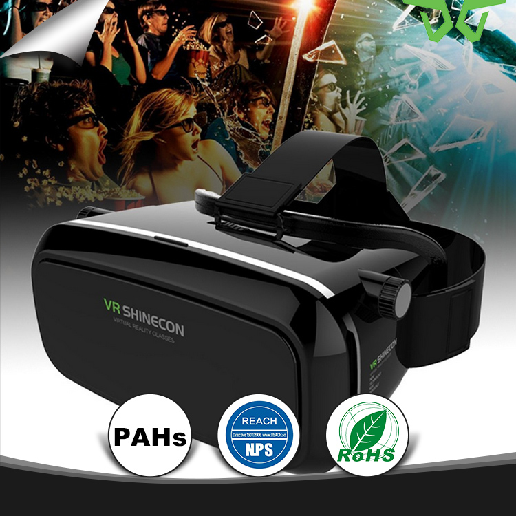 Shinecon VR 360 Viewing Immersive Virtual Reality 3D VR Headset Google Cardboard Games Glasses +Remote Controller