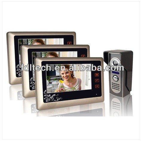 "7""inch wired colour touch button video intercom phone,skype video phone"