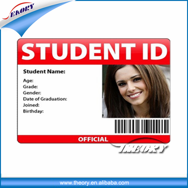 CR80 Plastic Student PVC ID Card With Barcode