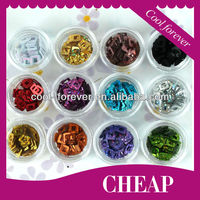 2013 popular Hollow Squre shape crylic nails glitter