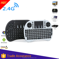 Mini Bluetooth rii i8+ 2.4g wireless mini keyboard for google android devices with multi-touch up to 15 meters /support
