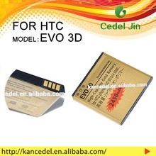 Cell phone battery,high quality gold battery For HTC EVO 3D