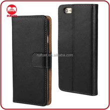High Quality Luxury With Card Slots Stand Wallet 100% Genuine Real Leather Case for iphone 6