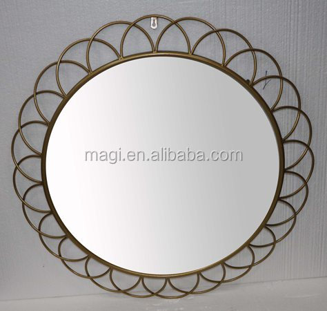 Handmade Antique Decorative Round Metal Wall Mirrors