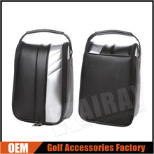 New fasion golf shoes case, Synthetic leather golf shoes bag, OEM golf boston bag