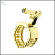 Fashion mens hip hop gun shape elastic ring