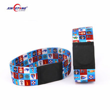Cheap Custom made Thin Adjustable ISO 14443A MIFARE Classic 1K RFID woven wristbands fabric NFC elastic bracelet