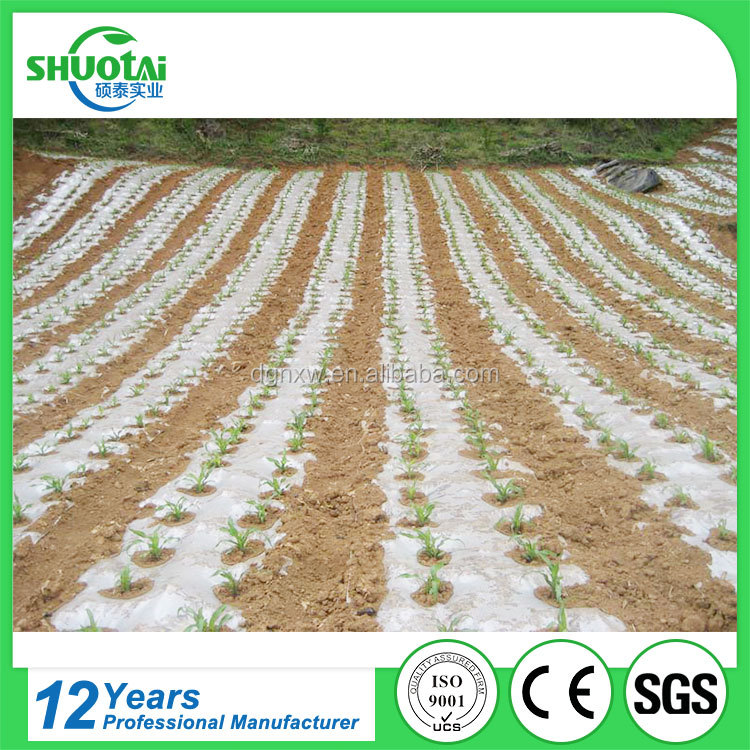 Factory customized high strength agricultural ground cover white plastic mulch film for farm production