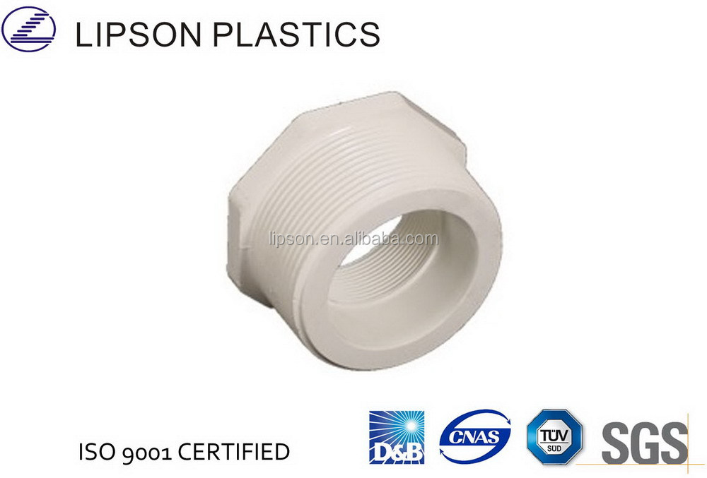 High quality pvc plastic pipe fitting reducing bushing