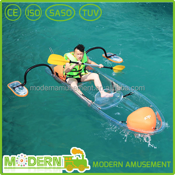 Amusement park transparent water pedal boat for sale