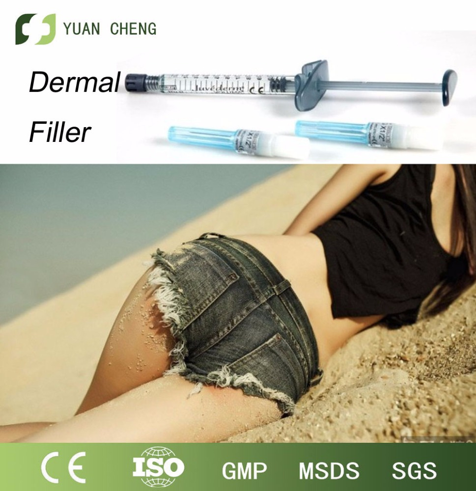 Hyaluronic acid dermal filler injections for butt and hips enlarger