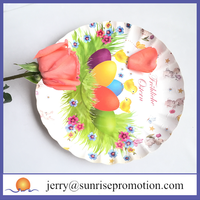 Recycled custom kids party paper plate disposable