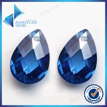 pear cut beautiful tanzanite double faceted zircon cz
