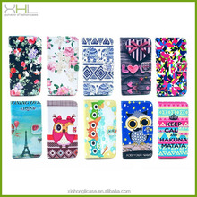 Ethnic blogs HQ leather flip cover case for iphone 5/5s