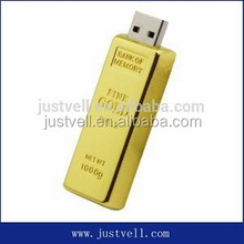 Cartoon Pen Drive Gold Bar Usb Stick Golden Brick Flash Drive 8gb 16gb 32gb Gift Memory Card Disk on Key
