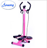 hydraulic stepper scooter AMA-5019A pink stair stepper with twister and dumbell