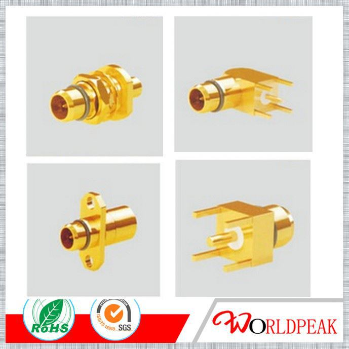wireless transmitter BMA RF coaxial connector Male Panel 4-hole straight flange connector