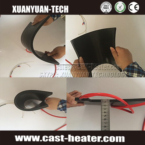 Black Electrical Silicone Rubber Heater For Tyre Heating
