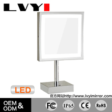 "WZ LY 8.5"" square make up mirror with led light 2205D"
